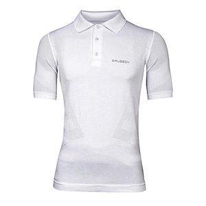 Pánske thermo polo tričko Brubeck PRESTIGE s límcom biela - M