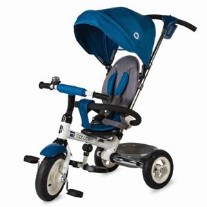 Detská trojkolka s vodiacou tyčou Coccolle Urbio Air modrá