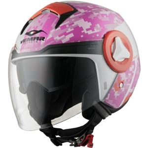Moto prilba Vemar Breeze Camo ružová - L (59-60)