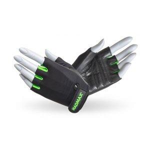Fitness rukavice MadMax Rainbow čierno-zelená - XS