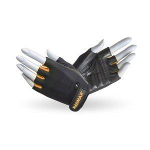 Fitness rukavice MadMax Rainbow čierno-oranžová - S