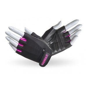 Fitness rukavice MadMax Rainbow čierno-ružová - L