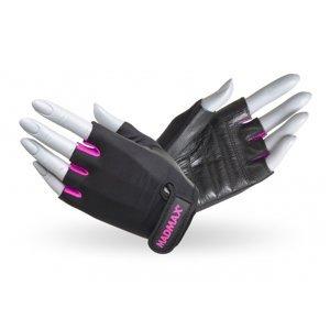 Fitness rukavice MadMax Rainbow čierno-ružová - S