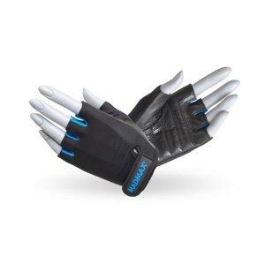 Fitness rukavice MadMax Rainbow čierno-tyrkysová - S