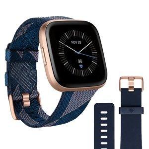 Inteligentné hodinky Fitbit Versa 2 Special Edition Navy & Pink Woven