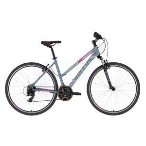 "Dámsky crossový bicykel KELLYS CLEA 10 28"" - model 2020 Grey Pink - M (19'') - Záruka 10 rokov"