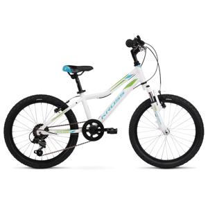 "Detský bicykel Kross Lea Mini 2.0 20"" - model 2021 White / Blue / Green Glossy 2 - 11"" - Záruka 10 rokov"