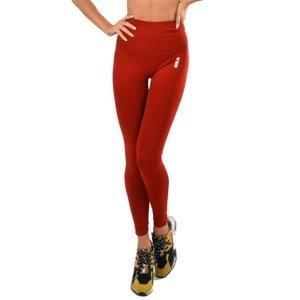 Dámske legíny Boco Wear Red Plain Push Up červená - S/M