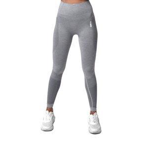 Dámske legíny Boco Wear Sparkle Grey Melange Shape Push Up šedá - M/L