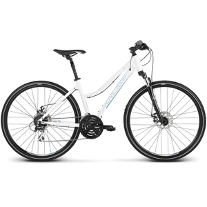 """Dámsky crossový bicykel Kross Evado 4.0 28"""" - model 2020 bielo-modrá - M (17"""") - Záruka 10 rokov"""