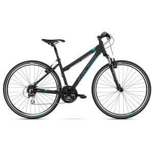 """Dámsky crossový bicykel Kross Evado 2.0 28"""" - model 2020 čierna/mint - M (17"""") - Záruka 10 rokov"""