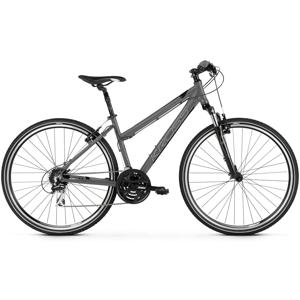 """Dámsky crossový bicykel Kross Evado 2.0 28"""" - model 2020 grafitová/čierna - M (17"""") - Záruka 10 rokov"""