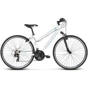 """Dámsky crossový bicykel Kross Evado 1.0 28"""" - model 2020 bielo-tyrkysová - M (17"""") - Záruka 10 rokov"""