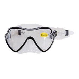 Potápačské okuliare Escubia Apnea Silicon Senior čierna