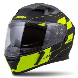 Moto prilba Cassida Integral 3.0 RoxoR čierna matná/žltá fluo/šedá - XL (61-62)