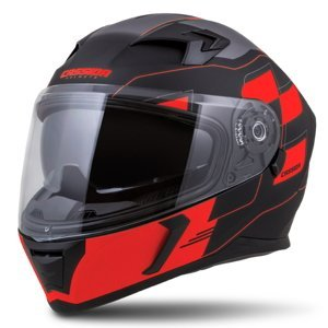 Moto prilba Cassida Integral 3.0 RoxoR čierna matná/červená fluo/šedá - XXL (63-64)