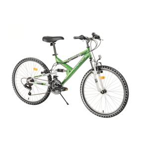 """Juniorský celoodpružený bicykel Reactor Fox 24""""  - model 2020 Green - Záruka 10 rokov"""