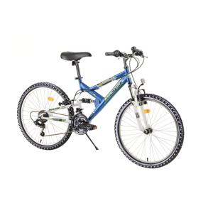 """Juniorský celoodpružený bicykel Reactor Fox 24""""  - model 2020 blue - Záruka 10 rokov"""