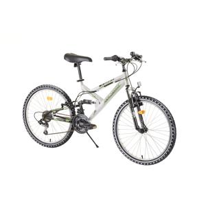 """Juniorský celoodpružený bicykel Reactor Fox 24""""  - model 2020 White - Záruka 10 rokov"""