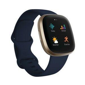 Inteligentné hodinky Fitbit Versa 3 Midnight/Soft Gold Aluminum