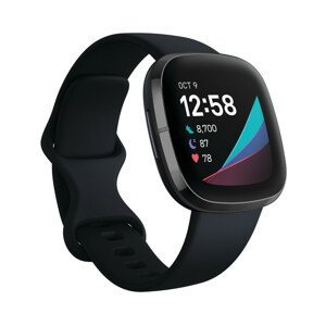 Inteligentné hodinky Fitbit Sense Carbon/Graphite Stainless Steel