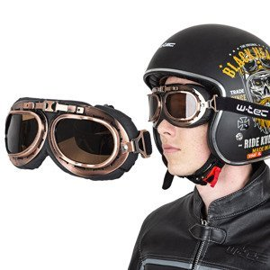 Moto okuliare W-TEC Steamrust