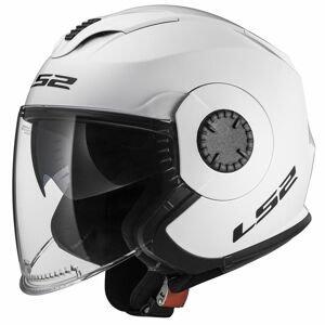Moto prilba LS2 OF570 Verso Single Gloss White - XXL (63-64)