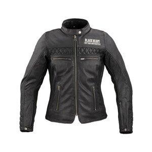Dámska kožená moto bunda W-TEC Black Heart Raptura čierna - XL
