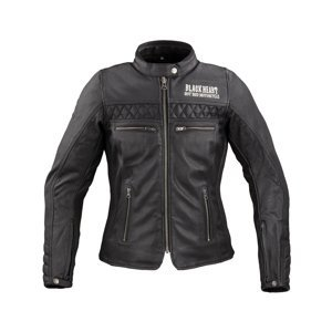 Dámska kožená moto bunda W-TEC Black Heart Raptura čierna - 3XL