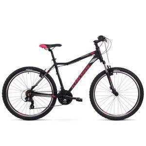 "Dámsky horský bicykel Kross Lea 1.0 26"" SR - model 2021 čierna/malinová/grafitová - S (17'') - Záruka 10 rokov"