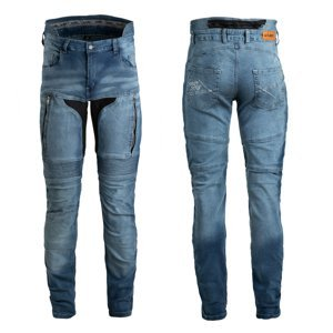 Pánske moto jeansy W-TEC Grandus EVO modrá - 30
