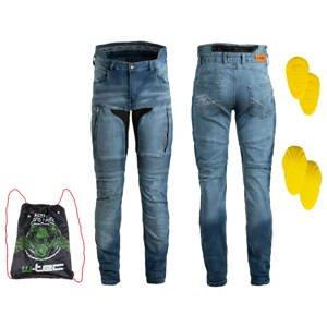 Pánske moto jeansy W-TEC Grandus EVO modrá - 40