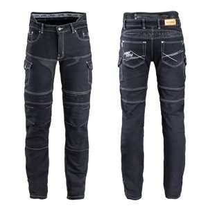 Pánske moto jeansy W-TEC Aredator EVO čierna - 34