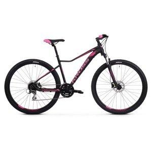 """Dámsky horský bicykel Kross Lea 6.0 27,5"""" SR - model 2021 čierno-ružová - XS (16"""") - Záruka 10 rokov"""