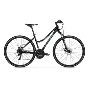 """Dámsky crossový bicykel Kross Evado 5.0 28"""" - model 2021 čierno-tyrkysová - M (17"""") - Záruka 10 rokov"""