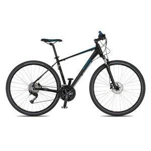 """Pánsky crossový bicykel 4EVER Credit Disc 28'' - model 2021 čierna/metal modrá - 18,5"""" - Záruka 10 rokov"""