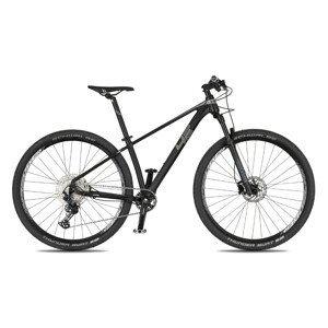 """Juniorský horský bicykel 4EVER Dark Team 29"""" - model 2021 čierna/metal strieborná - 15,5"""" - Záruka 10 rokov"""