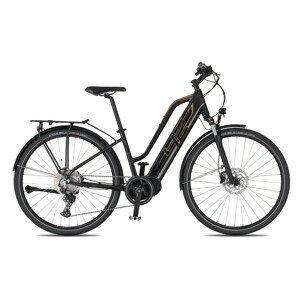 """Dámsky trekingový elektrobicykel 4EVER Marianne Elite Trek - model 2021 čierna/bronz - 18"""" - Záruka 10 rokov"""