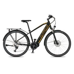"Trekingový elektrobicykel 4EVER Mercury Sport Trek - model 2021 čierna/zlatá - 21"" - Záruka 10 rokov"