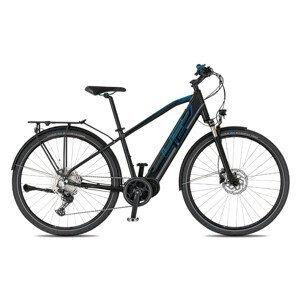 "Trekingový elektrobicykel 4EVER Mercury Sport Trek - model 2021 čierna/modrá - 17"" - Záruka 10 rokov"
