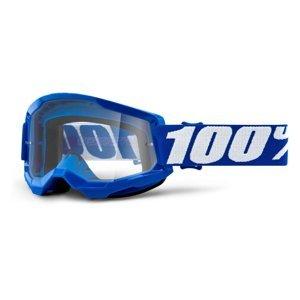 Motokrosové okuliare 100% Strata 2 modrá, číre plexi