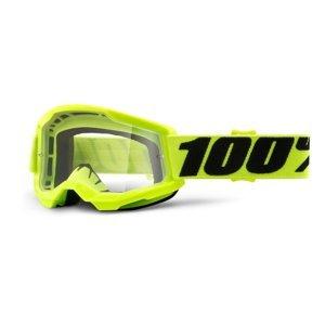 Detské motokrosové okuliare 100% Strata 2 Youth žltá, číre plexi