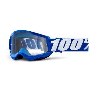 Detské motokrosové okuliare 100% Strata 2 Youth modrá, číre plexi