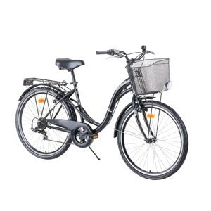 "Mestský bicykel Reactor Swan 26"" - model 2021 Black"