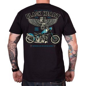 Tričko BLACK HEART Blue Chopper čierna - L