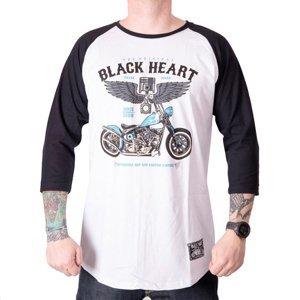 Tričko s dlhým rukávom BLACK HEART Blue Chopper RG biela - M