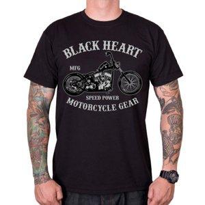 Tričko BLACK HEART Chopper čierna - XL