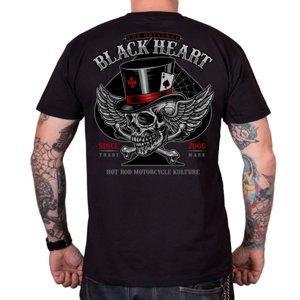 Tričko BLACK HEART Hat Skull šedá - L