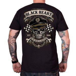 Tričko BLACK HEART Old School Racer čierna - XXL