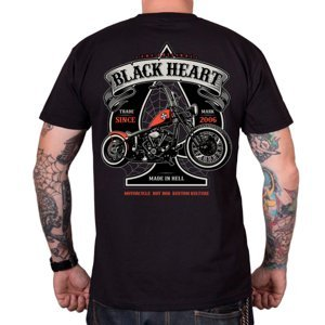 Tričko BLACK HEART Orange Chopper čierna - XXL